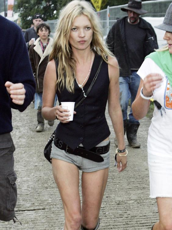 Kate Moss at Glastonbury in 2005