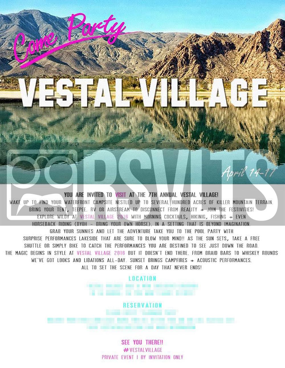 Vestal Village 2016 Coachella