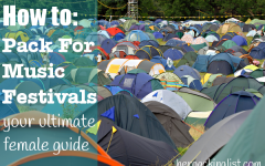 packing list for music festivals